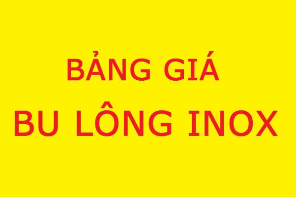 bảng giá bulong inox